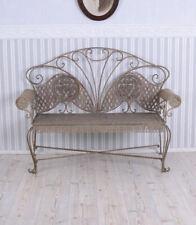 Garden Bench Iron Bank Antique Shabby Furniture Metal Park