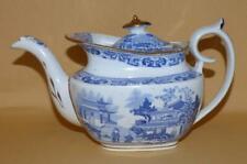 MILES MASON BLUE & WHITE VERANDAH PATTERN TEAPOT C1805-10