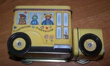 Global Innovations bus Shaped Tin Coin Bank: O Happy Day