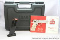 SAR  USA B6C Factory CASE Pistol Plastic Storage Box  AND MAGAZINE 9MM FOR B6C