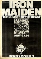 3/4/1982Pg34 Album Advert 15x10 Iron Maiden, The Number Of The Beast (virgin Rec