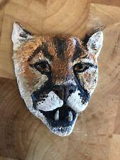 Mountain Lion Medallion Puma Original By Holly Lenz For Sierra Safari Zoo