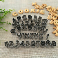 37pcs Alphabet Letter Number Cake Fondant Icing Cutter Mould stainless Tools Set