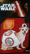 STAR WARS BB-8 DOG COSTUME - New! Size SMALL Headpiece & Tunic BB8 Yorkie Chihua