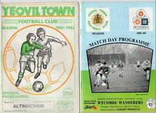 Yeovil Town Football Non-League Fixture Programmes (1980s)