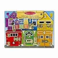 Melissa And Doug Latches Board Educational Play Pre-School Wooden