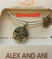 Disney Parks ALEX & ANI bracelet ANIMAL KINGDOM 20th Anniversary Silver tone NEW