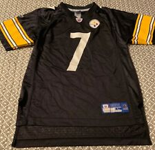 YOUTH NFL PITTSBURGH STEELERS #7 BEN ROETHLISBERGER JERSEY-LG (14-16)-REEBOK-EUC