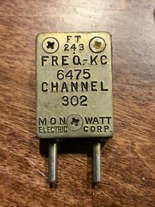 Vintage WWII US military FT 243 Radio Oscillator Crystal Channel 302 6475 kHz