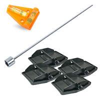 Hypercamp MaxiFoot Stützplatten Akkuschrauberaufsatz Wasserwaage für Wohnwagen