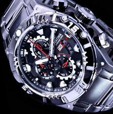 Festina Herren Armband Uhr Schwarz Rot Silber Farben 10Atm Edelstahl Chronograph