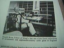 ephemera article 1960s picture donald beves king's cambbridge a3b