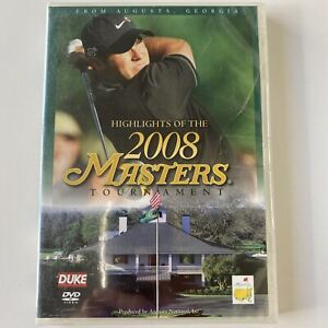 2008 Augusta Masters Tournament - Golf (DVD) ALL Regions - NEW & SEALED