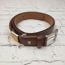 NWOT Mens LEE Active Comfort Leather Belt Size 46 Brown