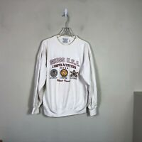Vintage Guess USA Georges Marciano Crew Neck Sweatshirt Men's L White