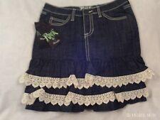 "Ladies ""Wrangler Rock 47"" Size 26, Blue Denim, Ultra Low Rise, Skirt MSRP $88"