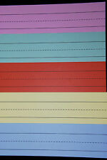 Word / Sentence Strips ~ Pack of 20 Strips ~ 3in x 11.8in ~ Assorted Colours.