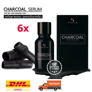 6X Parin Charcoal Special Serum for Nourishing Hair Treatment Dry Damaged 15ml