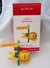 Great Grandson 2016 Hallmark Keepsake Ornament Lion Collectible New In Box New