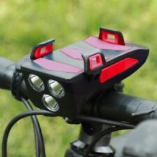 4 IN 1 Fahrradlampe Fahrrad Licht LED Scheinwerfer Speaker Phone Bracket Holder