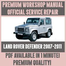 *WORKSHOP MANUAL SERVICE & REPAIR GUIDE for LAND ROVER DEFENDER 2007-2011