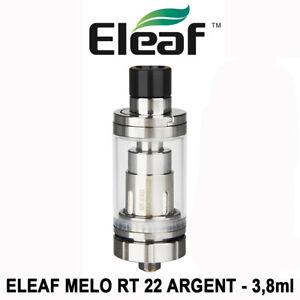 Clearomiseur / Atomiseur ELEAF MELO RT 22 - 3,8ml - Airflow - ARGENT / SILVER