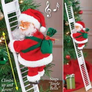 Electric Climbing Ladder Santa Claus Kids Christmas Musical Doll Hot Sell TI
