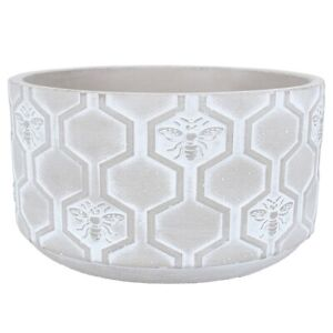 Stone Effect Bee Flower Pot Cover by Gisela Graham