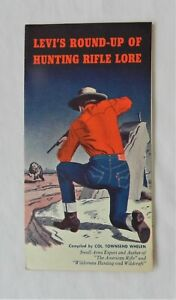 Early 1950s LEVI'S ROUND-UP OF HUNTING RIFLE LORE Fold Out Ad FlyerLevi-Strauss