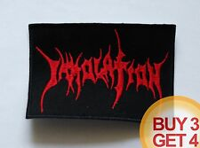 IMMOLATION R PATCH BUY3GET4,SUFFOCATION,MORBID ANGEL,VADER,DEICIDE,DEATH METAL