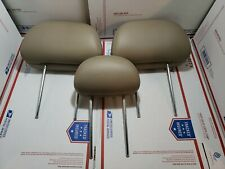 01-09 FORD ESCAPE MARINER TRIBUTE REAR HEADREST SET 3 Tan Brown beige Leather