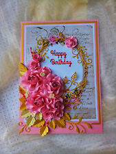 3D Birthday,Thank you Card 100%Handmade Rose Greeting Card colorful gift card
