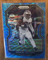 2020 PRIZM EZEKIEL ELLIOT #151 BLUE WAVE /199 Dallas Cowboys SP