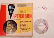 "This is Oscar Peterson at the Piano 2x7"" 45 EP RCA EPBT 3006 Picture Sleeve VG+"