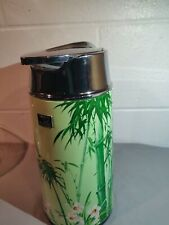 Vintage ZOJIRUSHI Thermos Carafe Vacuum Bottle Retro Green  Made In Japan