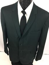 Vtg 50's SEARS Men GREEN Sport Coat ROCKABILLY Jacket Silk SHARKSKIN Blazer 42 R