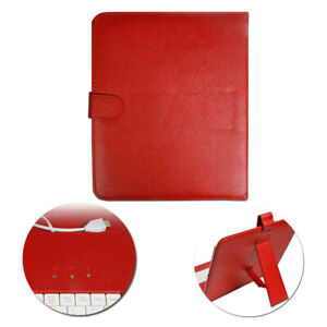 Universal PU Leather Micro USB Keyboard & Case Cover for 9.7' inch Tablet PC Red