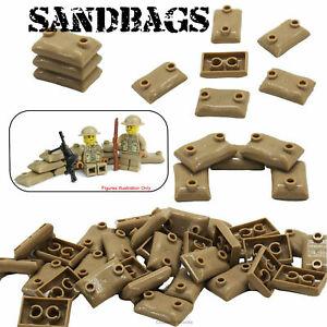 Sandbags Military Army Soldier WW2 Custom Building Blocks fits Lego Minifigures