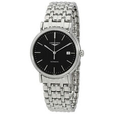 Longines Presence Black Dial Stainless Steel Automatic Mens Watch L49214526