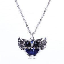 Cute Women's Lady Vintage Rhinestone Owl Pendant Long Chain Necklace Jewelry Hot