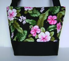 TROPICAL PARADISE HIBISCUS HANDBAG PURSE TOTE BAG POCKETBOOK RETRO MOD FASHION