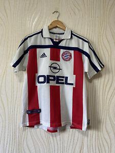 BAYERN MUNICH 2000 2001 AWAY FOOTBALL SHIRT SOCCER JERSEY ADIDAS ELBER sz XL YOU