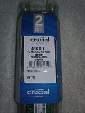 Crucial 4 GB UDIMM 1600 MHz PC3-12800 DDR3 SDRAM Memory (CT2KIT25664BA160B)