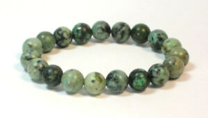 Handmade Spirit Mineral Stone Bracelets - 8 mm African Turquoise