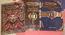 Lot 3 Dungeons & Dragons 2000 Set Core Rulebook Player's Master's Monster CD 3e