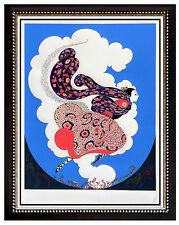ERTE Embossed Serigraph Original SIGNED Art DECO The Pursuit of Flore Costume
