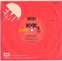 "ACDC AC/DC - MONEYTALKS MONEY TALKS - RARE 7"" 45 VINYL RECORD 1990"