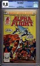 Alpha Flight 1 CGC Graded 9.8 NM/MINT 1st Appearance Of Puck Marvel Comics 1983