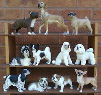 LEONARDO - SELECTION OF DOG FIGURINES.