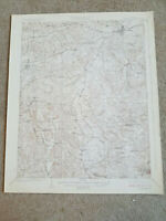 22x29 Vintage 1925 USGS Topo Map Leitchfield, Kentucky Ridgedale Woodside
